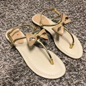 Brand new! KATE SPADE Trendy Bow Thong Sandals 7.5